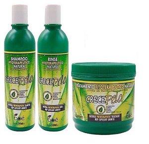 Boé Crece Pelo Kit Shampoo + Condicionador + Mascara 454g
