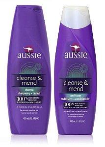 Aussie Kit Cleanse & Mend Shampoo + Condicionador 400ml