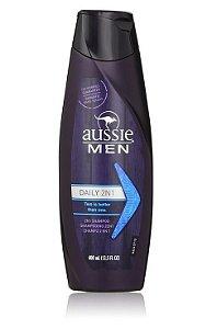 Aussie Men Shampoo Daily 2 em 1 - 400ml