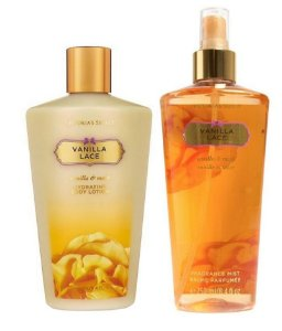 Victorias Secret Kit Hidratante + Splash Vanilla Lace 250ml
