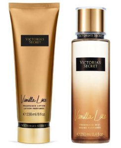 Victorias Secret Kit Hidratante + Splash Vanilla Lace 250ml