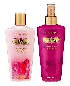 Victorias Secret Kit Hidratante + Splash Pure Seduction 250ml