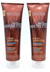 John Frieda Brunette Shampoo e Condic Colour Protecting Moisturising - Kit