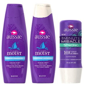 Aussie Kit  3 Minute Strong + Shampoo Condicionador Moist