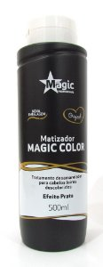 Matizador Magic Color Platinum Blond 500ml - Efeito Prata (+ Brinde)