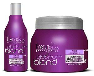 Forever Liss Kit Matizador Desamarelador Platinum Blond (+Brinde)