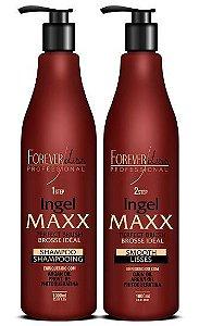 Forever Liss Ingel Maxx Escova Progressiva Kit 2x1L  (+brinde)