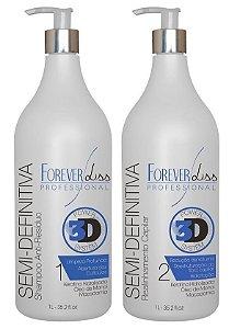 Forever Liss Progressiva 3D Semi Definitiva Kit 2x1L (+brinde)