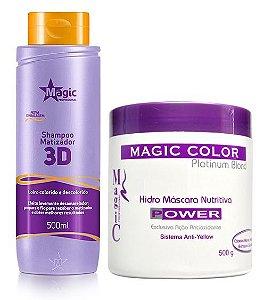 Magic Color Kit Desamarelador Power (Shampoo + Mascara)