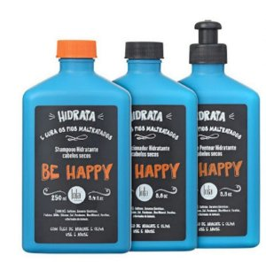 Lola Be Happy Kit p/ Cabelos Secos e Danificados (3 Produtos)