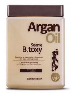VIP Argan Oil B.tox Selante Alinha e Reduz Volume - 950g +Brinde