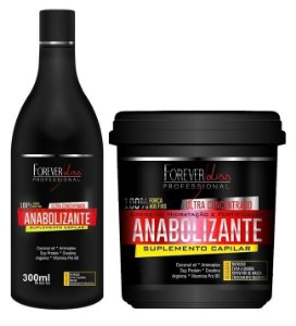 Forever Liss Anabolizante Kit Shampoo + Mascara 240g (Brinde)