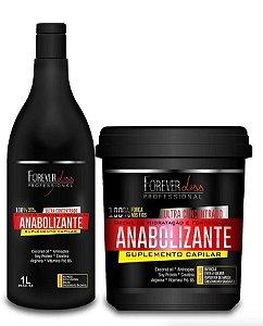 Forever Liss Anabolizante Kit Shampoo 1 Litro + Mascara 950g (+Brinde)