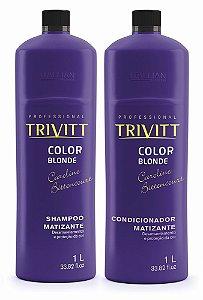 Itallian Trivitt Kit Matizador Shampoo + Condic (2x 1Litro)