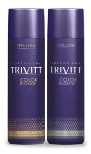 Itallian Trivitt Kit Matizador Shampoo + Condic Color Blonde -2x1Litro