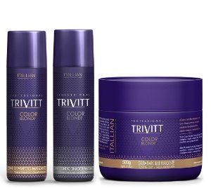 Itallian Trivitt Color Blonde Kit Matizador 250ml (3pc)