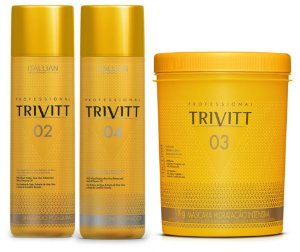 Itallian Trivitt Hidratação Profissional Kit 3X1Litro +Brinde