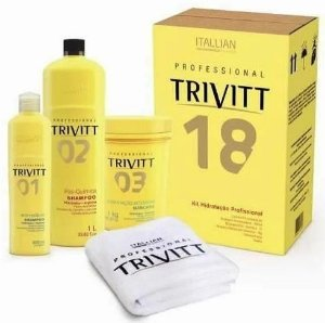 Itallian Trivitt 18 Kit Hidratação Profissional C/ Toalha (3pc)