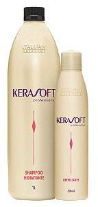 Itallian Hair Kerasoft Kit Shampoo 1Litro + Defrizzante 300ml