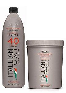 Itallian Pó Descolorante Dust Free + OXI 40 Oxigenada Itallian