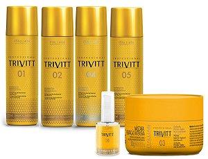 Itallian Trivitt Kit Tratamento Detox + Hidratação (6pc) +Brinde