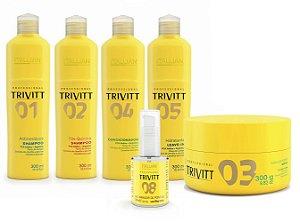 Trivitt Kit Completo + Hidratação + Reparação Itallian Hair (6pc)