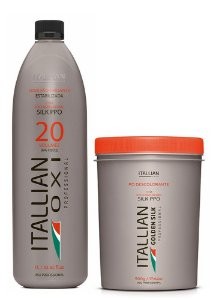 Itallian Pó Descolorante Silk PPO + OXI 20 Oxigenada