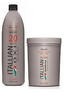 Itallian Pó Descolorante Dust Free + OXI 20 Oxigenada