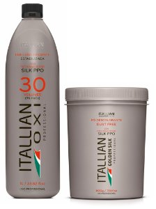 Itallian Pó Descolorante Dust Free + OXI 30 Oxigenada