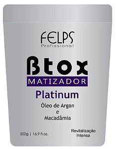 Felps B.tox Capilar Matizador Platinum Óleo Argan e Macadâmia - 500g