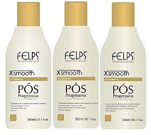 Felps Kit Pós Progressiva Xsmooth 3x300ml