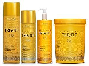 Itallian Trivitt Kit Cauterização Profissional Litro (4 Produtos)