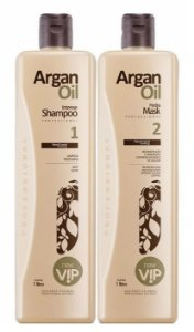 Escova Progressiva Vip Argan Oil Brilho e Hidratação (2x1L)