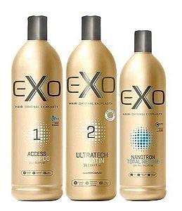 Exo Hair Exoplastia Capilar Progressiva Sem Formol (3 itens)