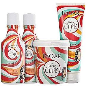 Inoar Divine Curls Kit Cachos Divinos c/ 4 Produtos
