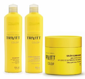 Itallian Trivitt Color Kit  300ml + Geléia Iluminadora 500g +Brinde