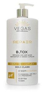 Vegas Repair B.tox Capilar Reduz Volume Repara Fibra (Sem Formol) 1Kg