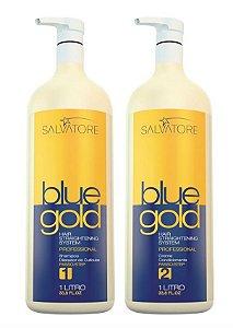 Escova Progressiva Salvatore Blue Gold Sem Formol (2x1 litro)