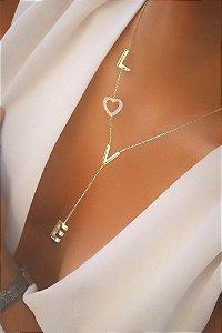 Colar Banhado ouro 18k Love
