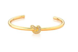 Bracelete  Banhada ouro 18k Nó