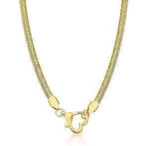 Colar Banhado ouro 18k Coração