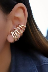 Brinco Banhado ouro 18k earcuff