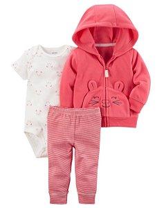 Conjunto de Inverno para bebês Carters 3 peças - Gatinha