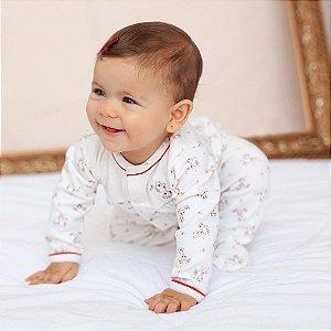 Macacão para Bebês em Algodão Egípcio - Girafinha