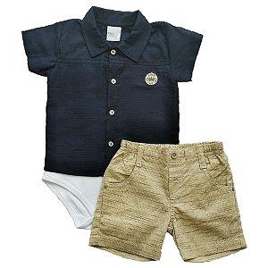 Conjunto Bebê Menino Camisa Body e Short - Príncipe