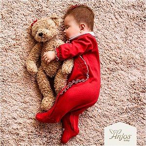 Macacão Longo Bebê Menina - Apple