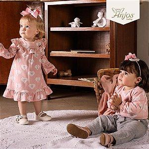 Conjunto de Inverno para Bebês - Lacinho - Anjos Baby