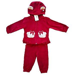 Conjunto Plush para Bebês - Vermelho