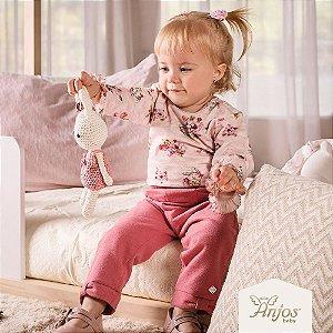 Conjunto Inverno para bebês - Coelhinha Floral