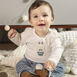 Conjunto de Inverno para Bebês - Coelhinho Azul